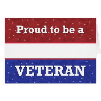 - Día de veteranos - orgulloso militar ser un Tarjeta De Felicitación