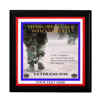 día de veteranos - personalizable - caja de regalo