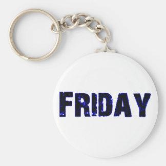 Día de viernes de la mercancía de la semana llavero redondo tipo pin