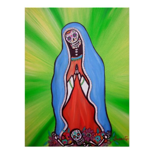 Día de Virgen Guadalupe del poster muerto