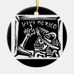 """Día de Viva México México """"del muerto """" Adorno Navideño Redondo De Cerámica"""