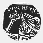 """Día de Viva México México """"del muerto """" Etiqueta Redonda"""