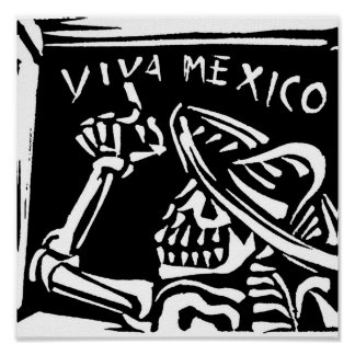 """Día de Viva México México """"del muerto """" Póster"""