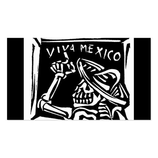 """Día de Viva México México """"del muerto """" Plantillas De Tarjeta De Negocio"""