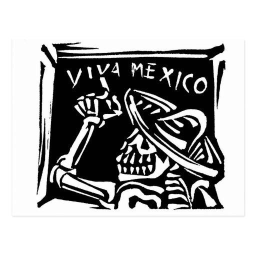 "Día de Viva México México ""del muerto "" Tarjeta Postal"