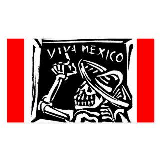 """Día de Viva México México """"del muerto """" Tarjetas De Visita"""