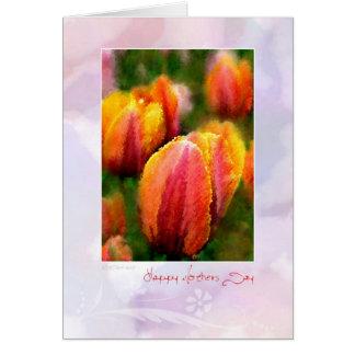 Día de WFF-Tulip2-Mothers Felicitaciones