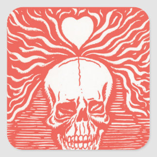 Día del adorno muerto 7 calcomanías cuadradass