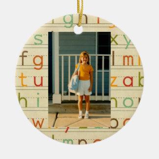 Día del alfabeto de la impresión primer de escuela adornos