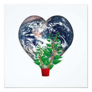 """Día del ambiente mundial invitación 5.25"""" x 5.25"""""""