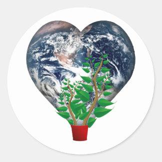 Día del ambiente mundial pegatina redonda