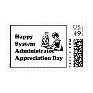 Día del aprecio del administrador de sistema sellos postales