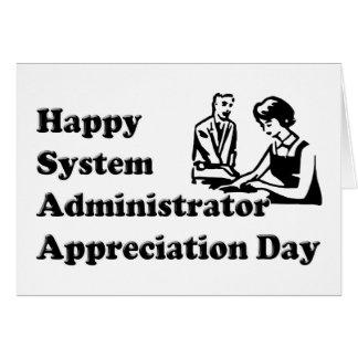 Día del aprecio del administrador de sistema tarjeta de felicitación
