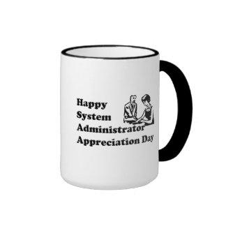 Día del aprecio del administrador de sistema taza