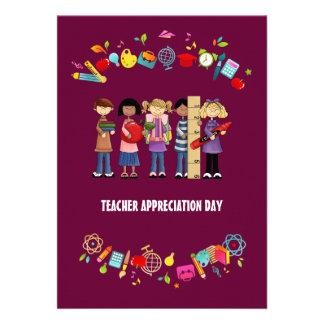 Día del aprecio del profesor Tarjetas adaptables Comunicados