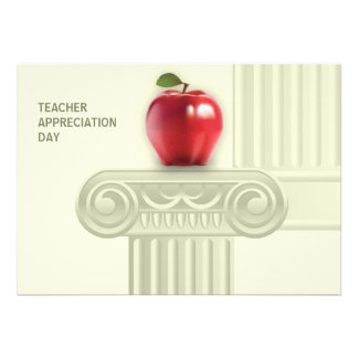 Día del aprecio del profesor Tarjetas adaptables Invitación Personalizada