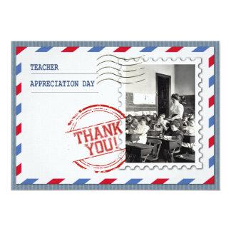 """Día del aprecio del profesor. Tarjetas adaptables Invitación 5"""" X 7"""""""