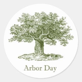 Día del árbol etiqueta