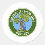 Día del árbol Kentucky Etiqueta Redonda