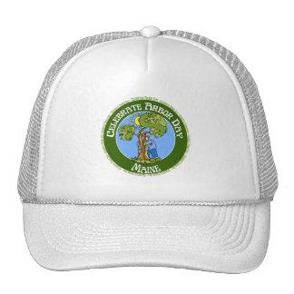 Día del árbol Maine Gorros