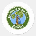 Día del árbol Mississippi Pegatina Redonda
