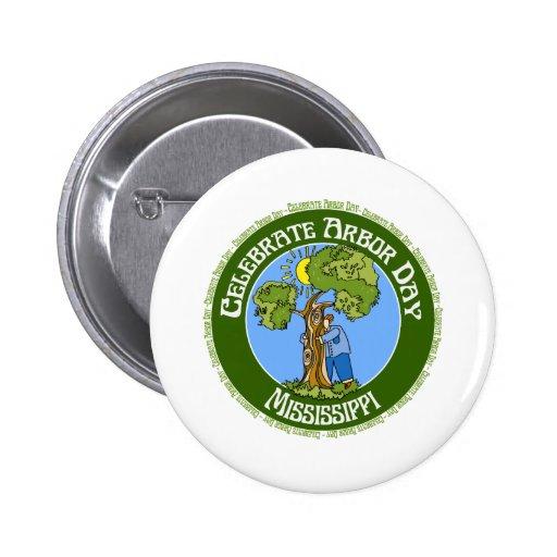 Día del árbol Mississippi Pins
