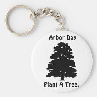 Día del árbol; Plante el árbol de A Llavero Redondo Tipo Pin