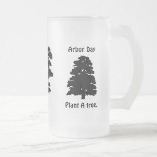 Día del árbol; Plante el árbol de A Taza Cristal Mate
