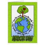 Día del árbol tarjeta