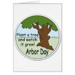 Día del árbol tarjeton