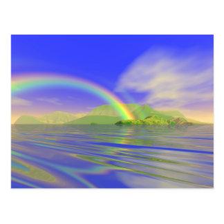 Día del arco iris tarjetas postales