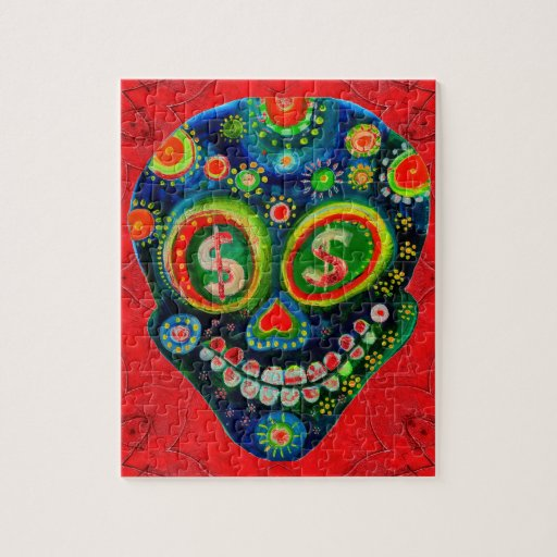 Día del arte muerto del cráneo del azúcar puzzles con fotos