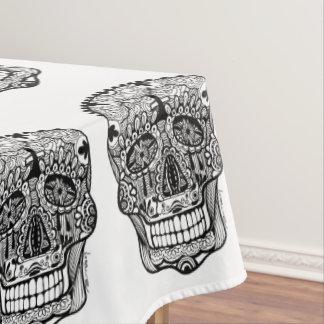 Día del arte muerto del Doodle del cráneo Mantel
