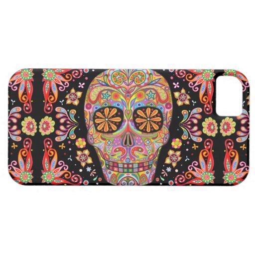 Día del arte muerto iPhone 5 Case-Mate protectores