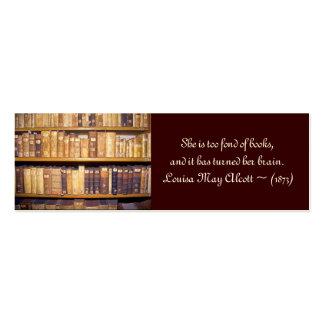 Día del bibliotecario de la mini-señal/de escuela tarjetas de visita mini
