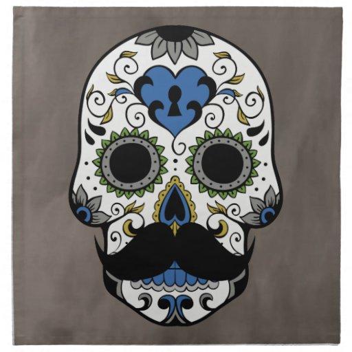 Día del bigote del cráneo muerto del azúcar servilletas de papel