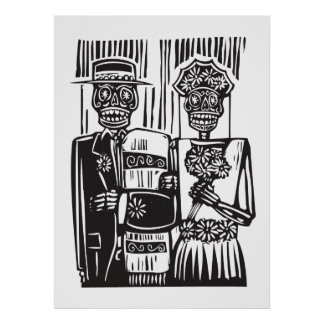 Día del boda muerto póster