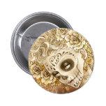 Día del botón muerto pin redondo de 2 pulgadas