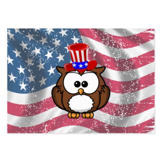 Día del búho de la independencia tarjetas de visita grandes