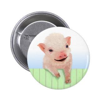 Día del cerdo pin redondo de 2 pulgadas
