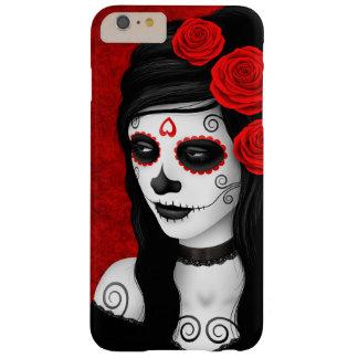 Día del chica muerto con los rosas rojos funda barely there iPhone 6 plus