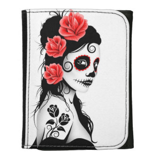 Día del chica muerto del cráneo del azúcar - blanc