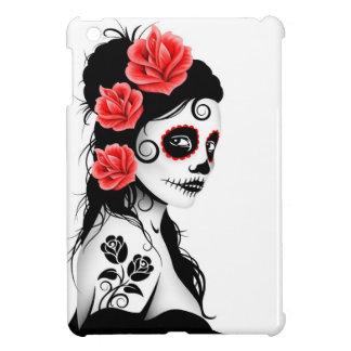 Día del chica muerto del cráneo del azúcar - blanc iPad mini coberturas
