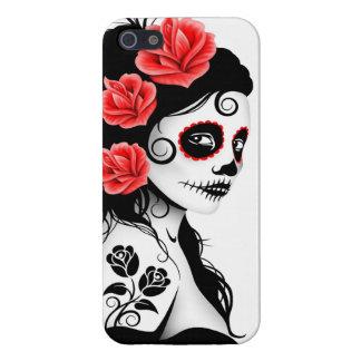 Día del chica muerto del cráneo del azúcar - blanc iPhone 5 carcasa