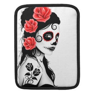 Día del chica muerto del cráneo del azúcar - blanc fundas para iPads