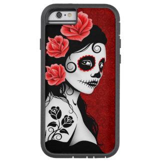 Día del chica muerto del cráneo del azúcar - de funda tough xtreme iPhone 6