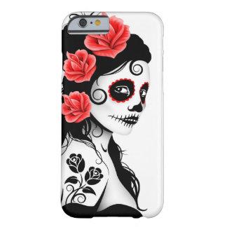 Día del chica muerto del cráneo del azúcar - funda de iPhone 6 barely there