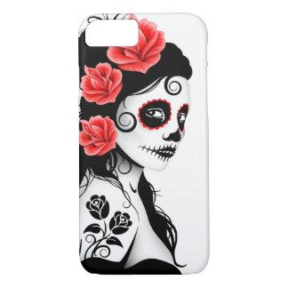 Día del chica muerto del cráneo del azúcar - funda iPhone 7