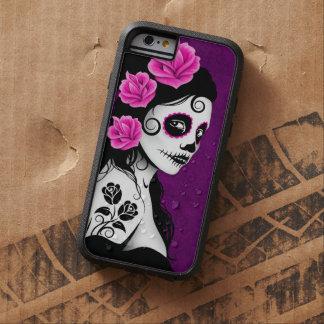 Día del chica muerto del cráneo del azúcar - funda tough xtreme iPhone 6