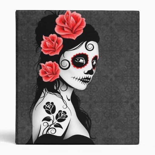 Día del chica muerto del cráneo del azúcar - gris